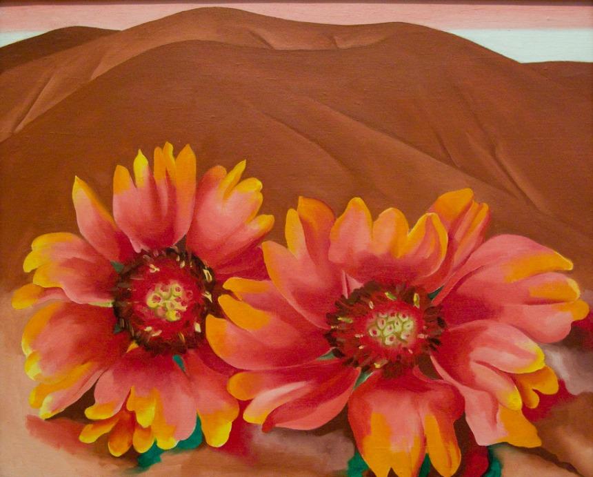 Georgia O'Keeffe painting