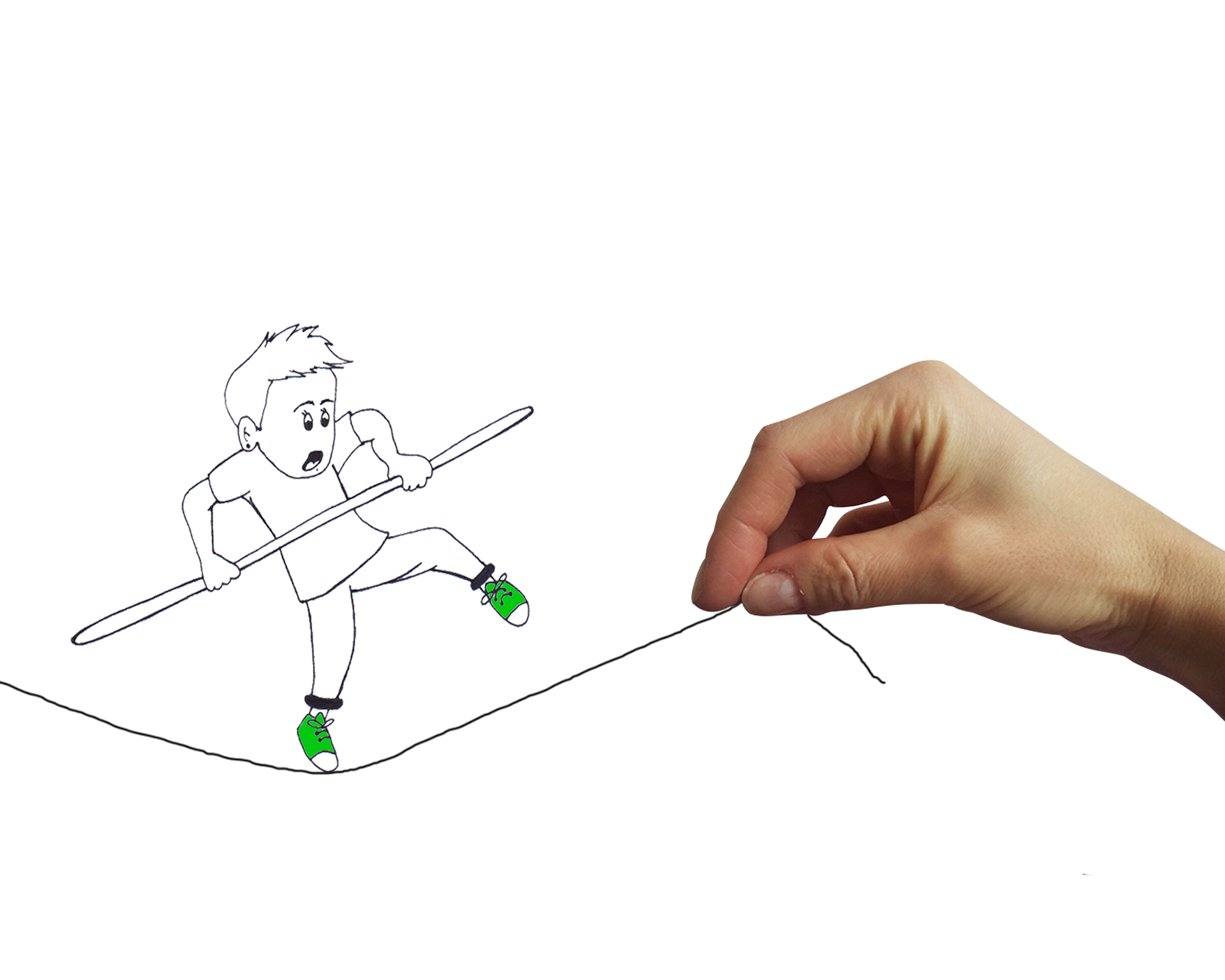 An animation being drawn