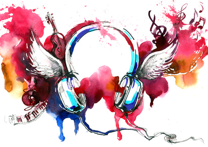 Painted headphones