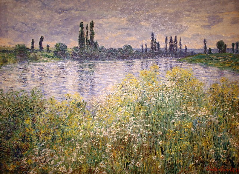Banks of the Seine, Vétheuil painting by Claude Monet