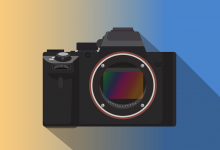 An illustration of a camera