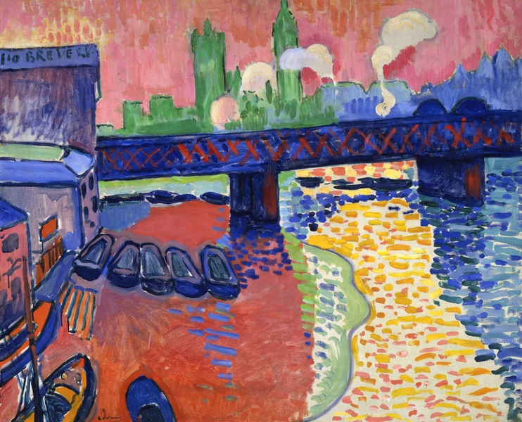 Charing Cross Bridge painting by Derain