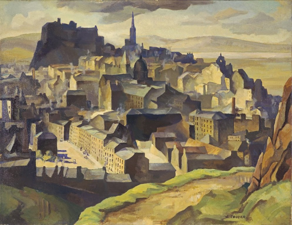 Edinburgh from Salisbury Crags painting by William Crozier