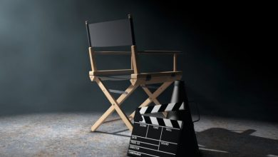 A film directors chair
