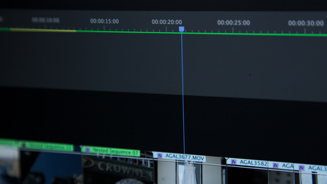 A film editing time line