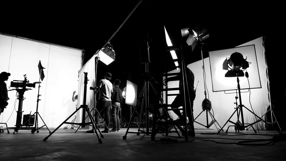 A film set