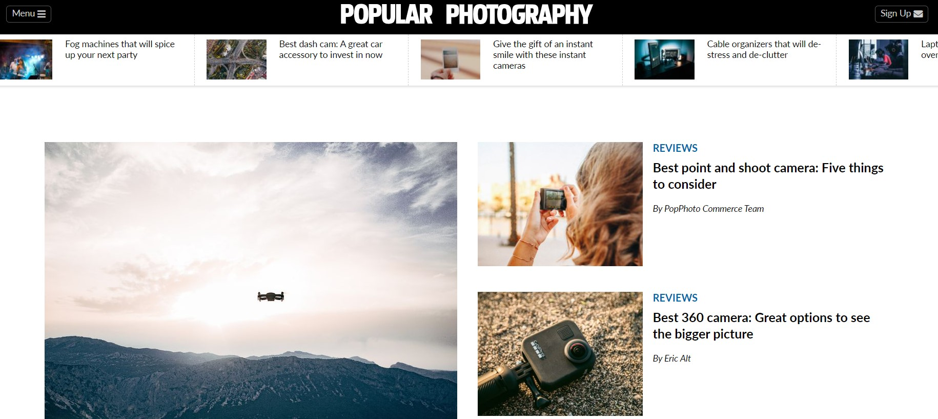 The Popular Photography website