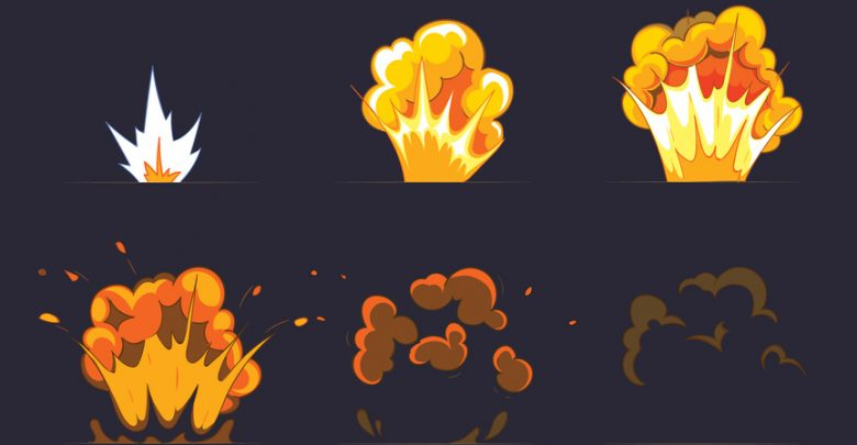 An animated explosion