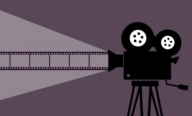 Illustration of a camera from the cinema