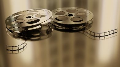 Two metal film reels