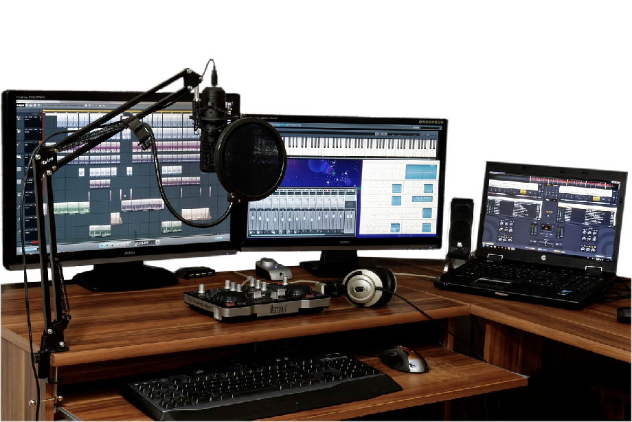 A home recording studio