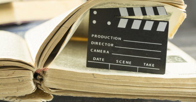 A movie board in a book