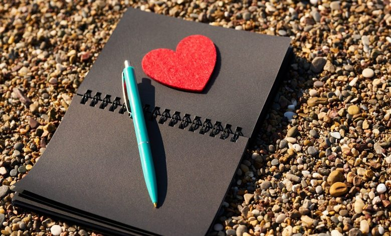 A notepad for writing poetry