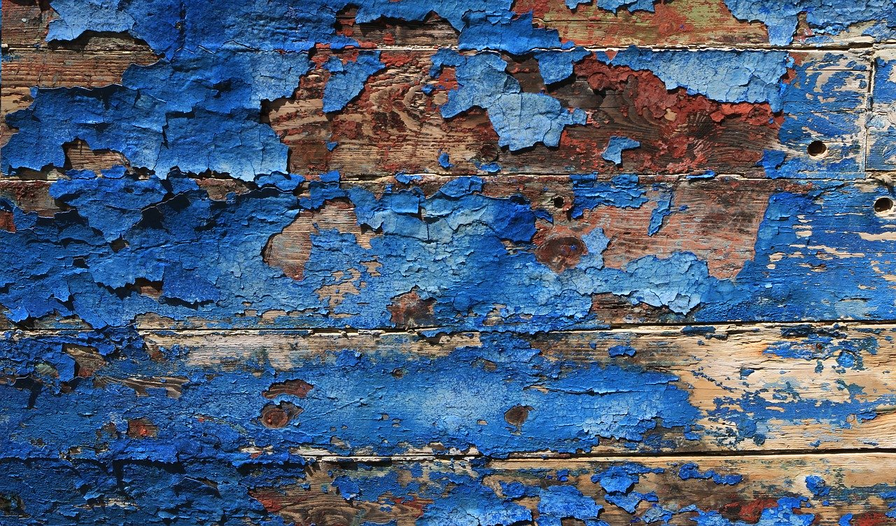 Paint peeling off wood