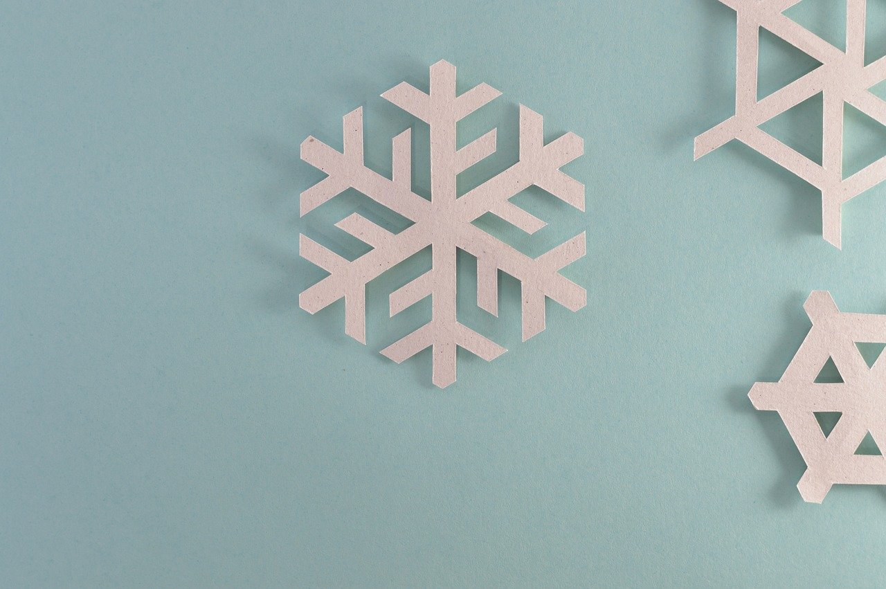Paper snowflakes made with a Cricut